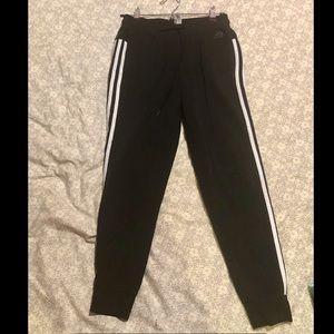 Adidas black sweatpants / joggers with drawstring